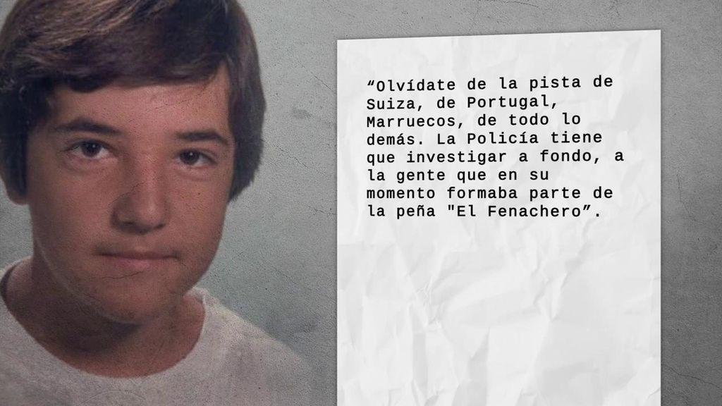 La carta anónima que reabre el caso de la desaparición del 'niño pintor' de Málaga