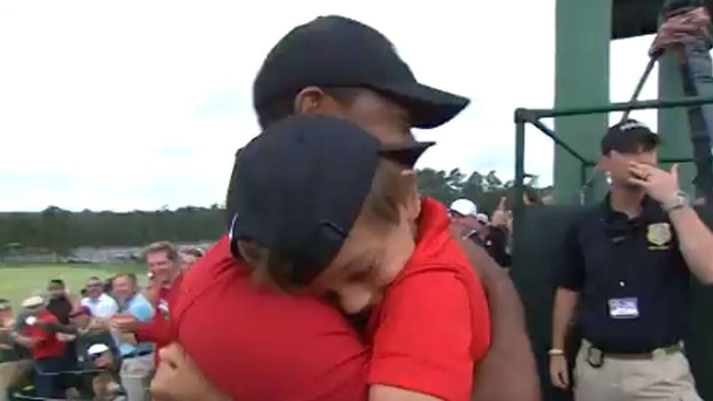 Resultado de imagen para fotos triunfo de Tiger Woods, Augusta