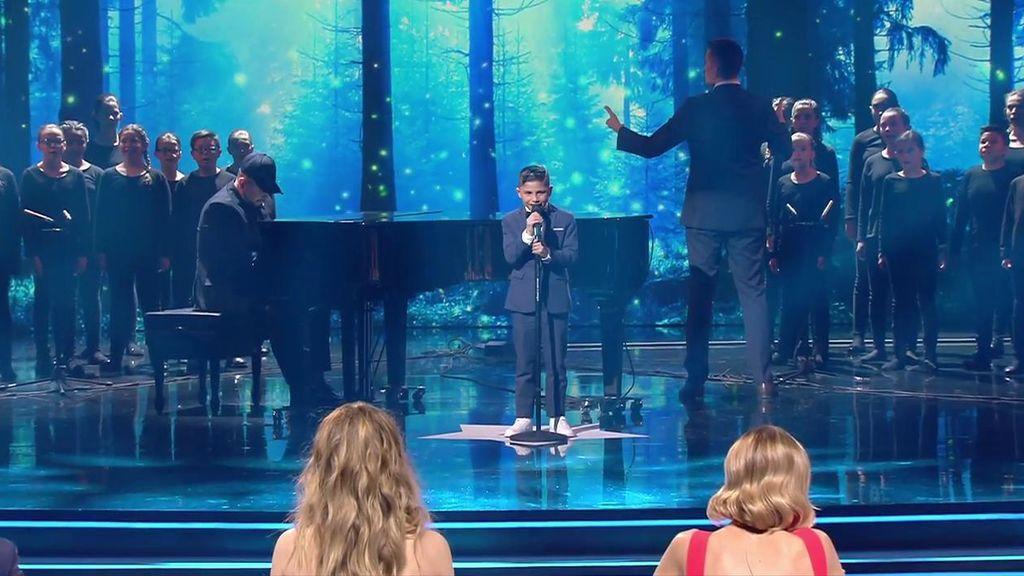 Cristian Losada sobrecoge al jurado con su versión de 'La Tarara' en las semifinales de 'Got Talent'