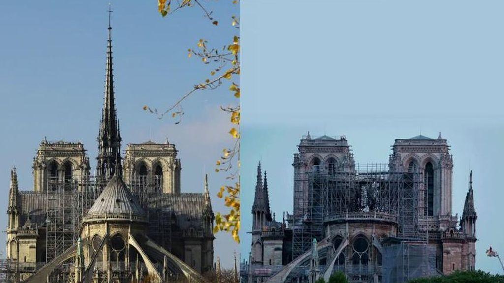 Notre Dame de París sobrevive a 8 horas de incendio aunque pierde parte de su identidad