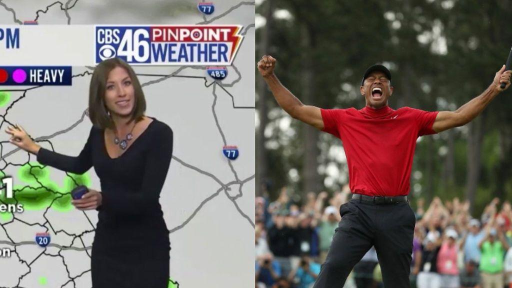 Meteoróloga recibe amenazas de muerte por Interrumpir la conexión con Tiger Woods para avisar de un tornado