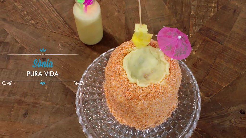 Ingredientes y elaboración: Así se prepara la tarta de piña colada de Sonia