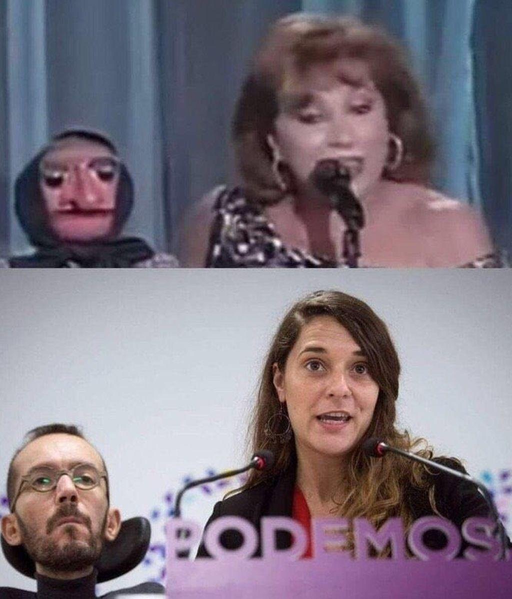 """""""¡Hay que ser cabrones!"""": la guasa de Iglesias tras compartir un meme el que se compara a Echenique con Doña Rogelia"""