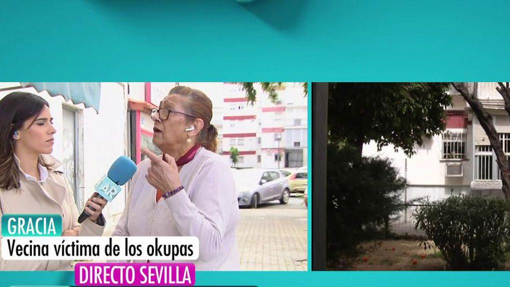"""Gracia, víctima de los okupas de Sevilla: """"Me han amenazado con matarme"""""""