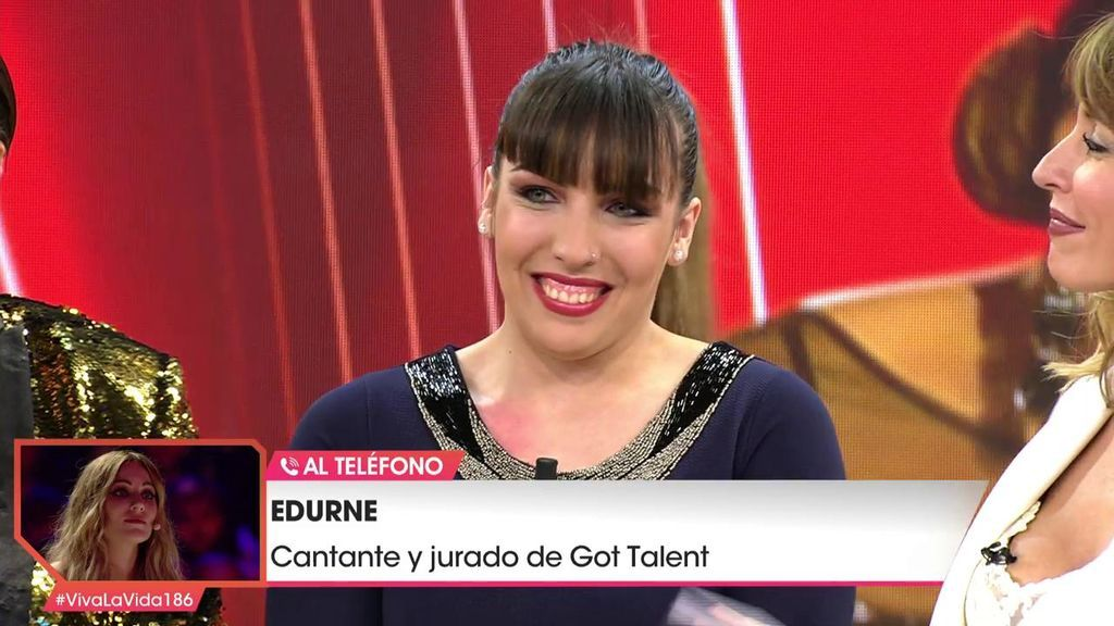 Edurne entra en directo por teléfono y emociona a los finalistas de 'Got talent'