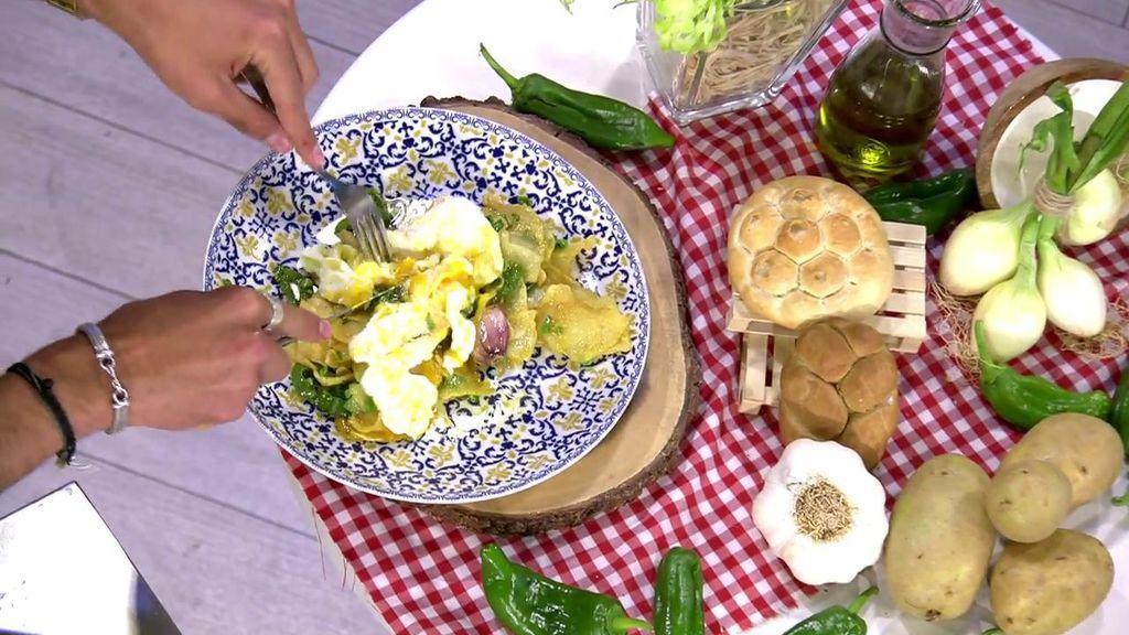 Jorge Brazález prepara su plato favorito de una forma muy especial: patatas fritas con huevos