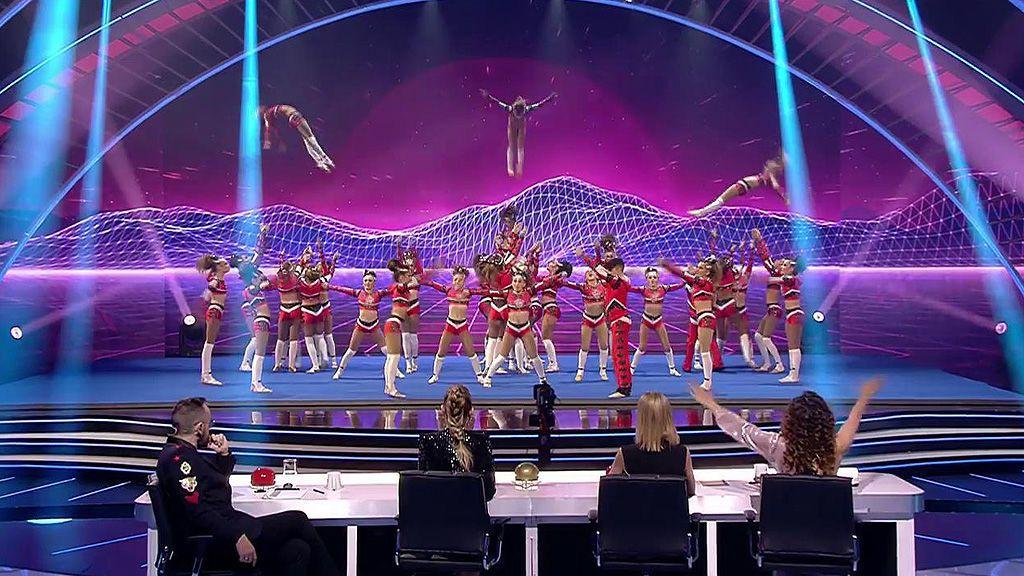 La actuación de Victory Cheerleaders: se quedan sin el 'pase de oro' a la final por el 'no' de Risto Mejide