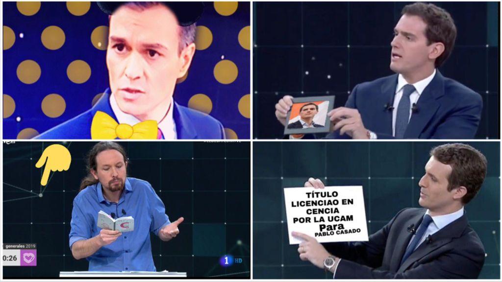 El 'debate de los memes', con su humor, roba el protagonismo a los candidatos del 28A