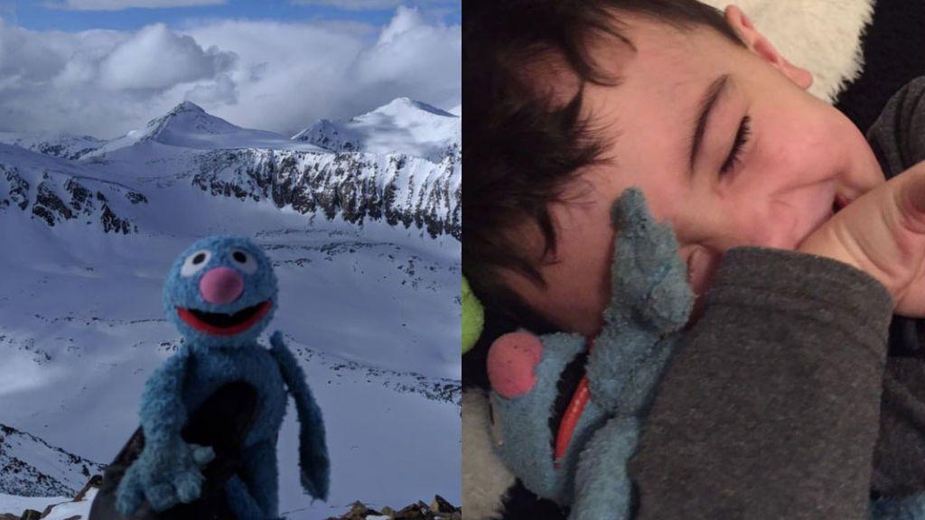 Una excursionista pierde el peluche favorito de su hijo en la cima de una montaña y lo recupera gracias a Facebook