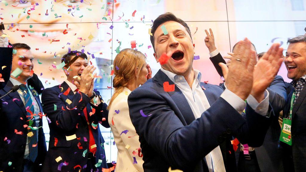 Zelenski se impone en las presidenciales de Ucrania con más del 80 por ciento de los votos escrutados