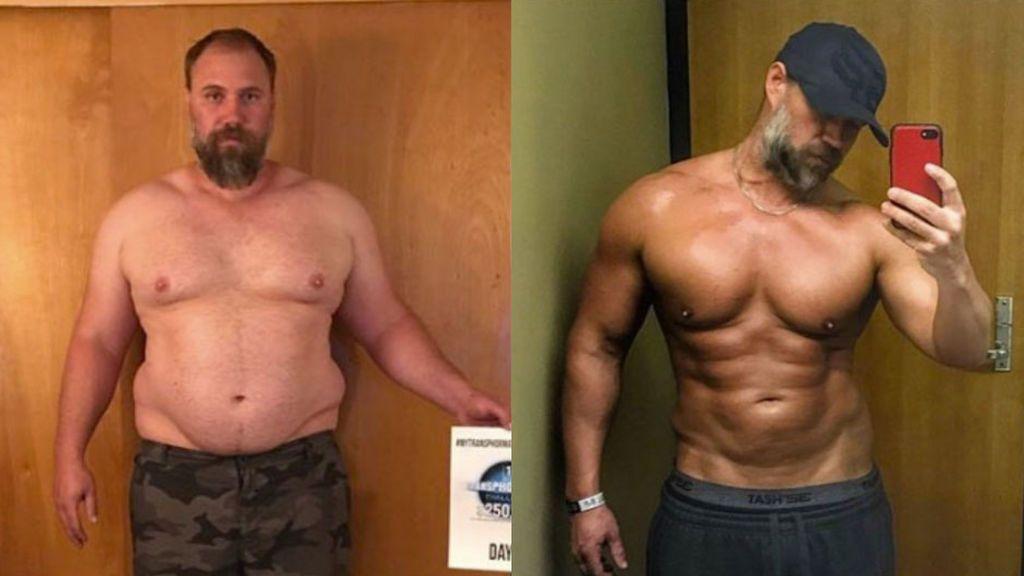 El increíble cambio físico de un padre al darse cuenta que sus hijos de avergonzaban de él por su peso