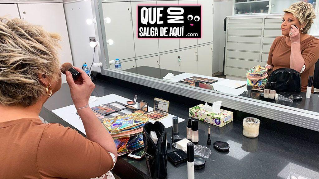 Maquillando a Terelu Campos en Mediaset (time lapse)