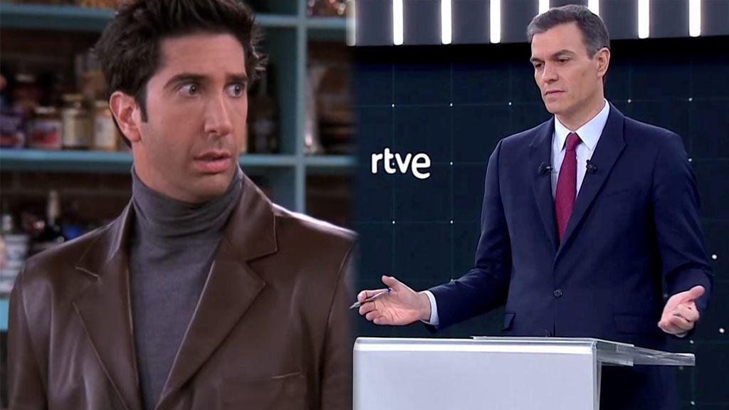 El debate político como si fuera un capítulo de 'Friends': Pedro Sánchez y Ross se parecen demasiado