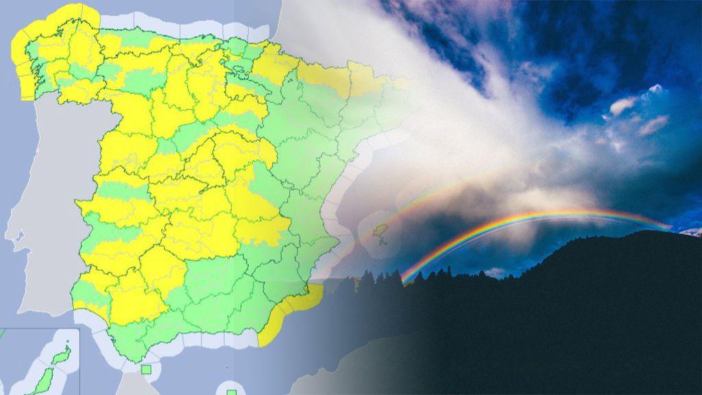 Más de 30 provincias en riesgo por viento, nevadas, lluvia y fuerte oleaje