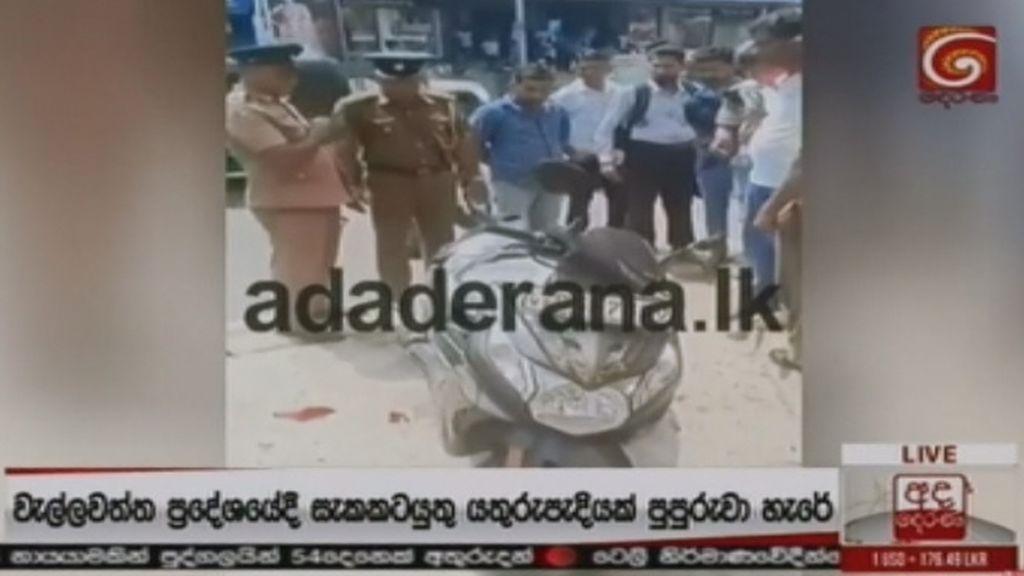 La policía de Sri Lanka realiza una explosión controlada en Colombo
