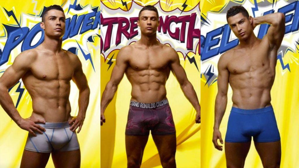 Los posados de Cristiano Ronaldo a lo 'superhéroe' para promocionar su marca de ropa interior