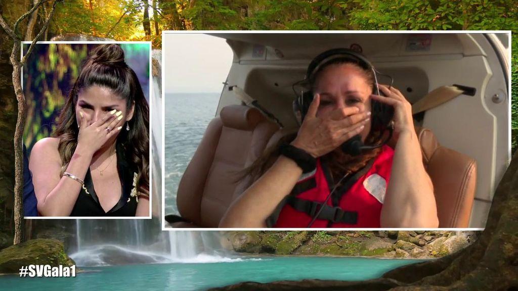 ¡El salto más esperado! Isabel Pantoja se tira del helicóptero entre lágrimas y con el apoyo de sus hijos