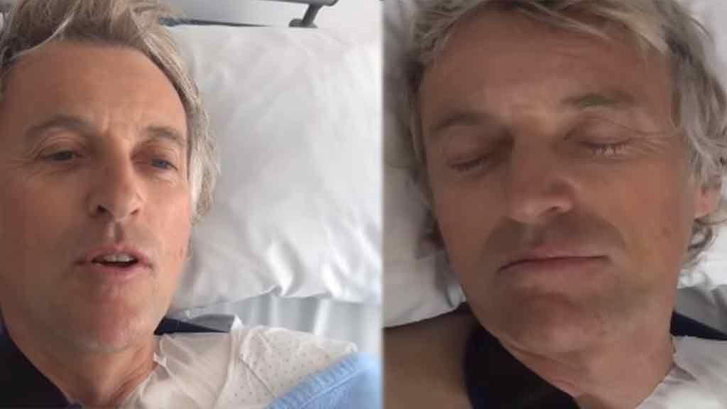 """Jesús Calleja graba desde dentro su operación de clavícula: """"Tengo un 'pedete', madre mía"""""""