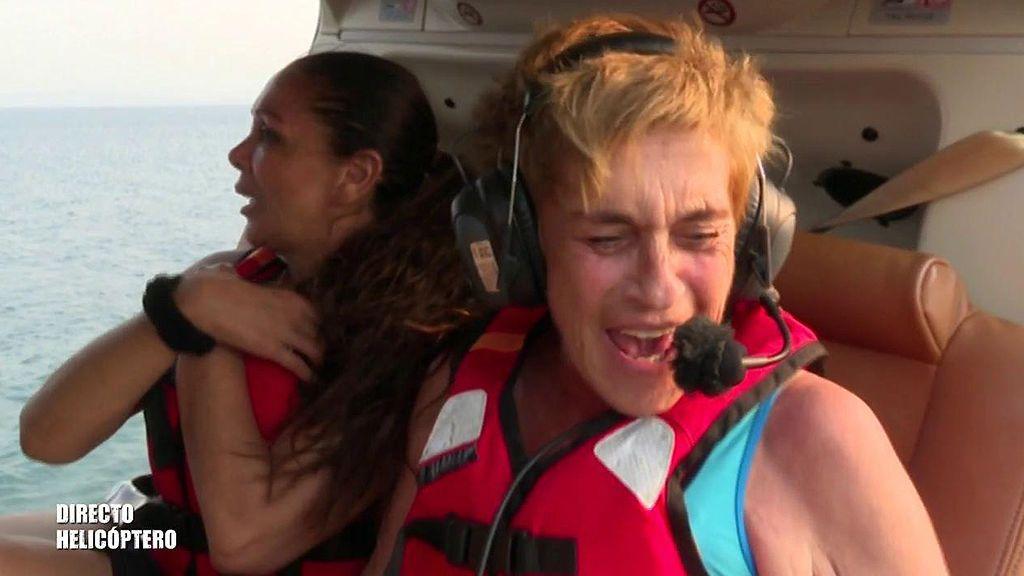 """Chelo García Cortés, eufórica en su salto del helicóptero: """"Es el día más feliz de mi vida"""""""