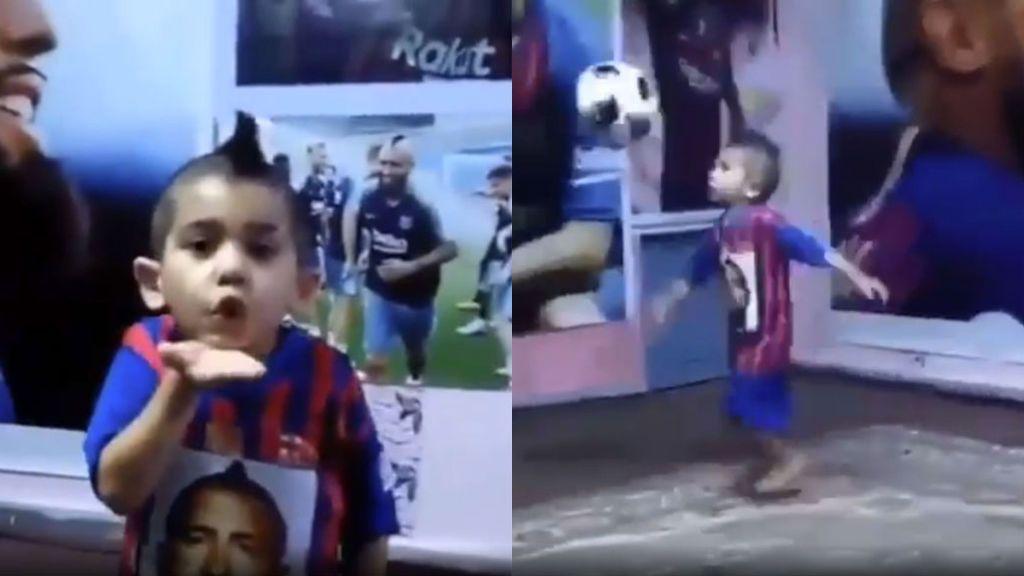 """El mini clon de Arturo Vidal que ha conquistado el corazón del jugador del Barcelona: """"Espero que nos conozcamos algún día"""""""