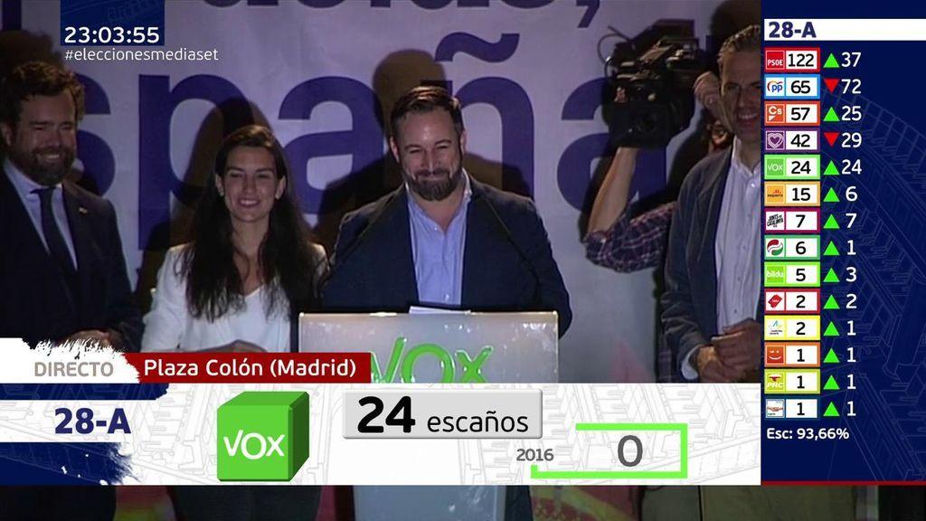 """Santiago Abascal: """"La reconquista tiene ahora una voz en el Congreso"""""""