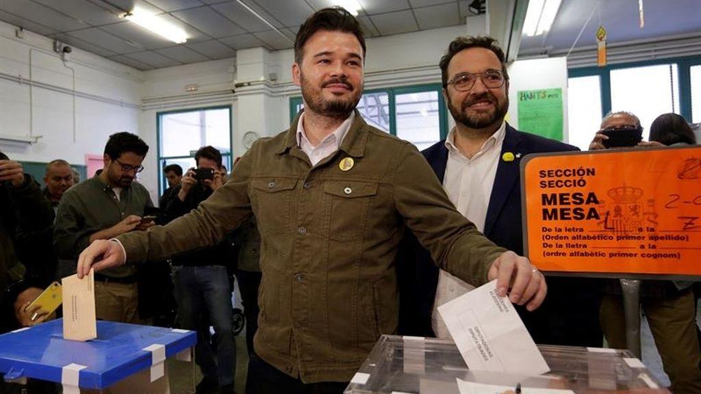 Casado, Rivera, Abascal, Iglesias y Sánchez ya han votado en las elecciones generales