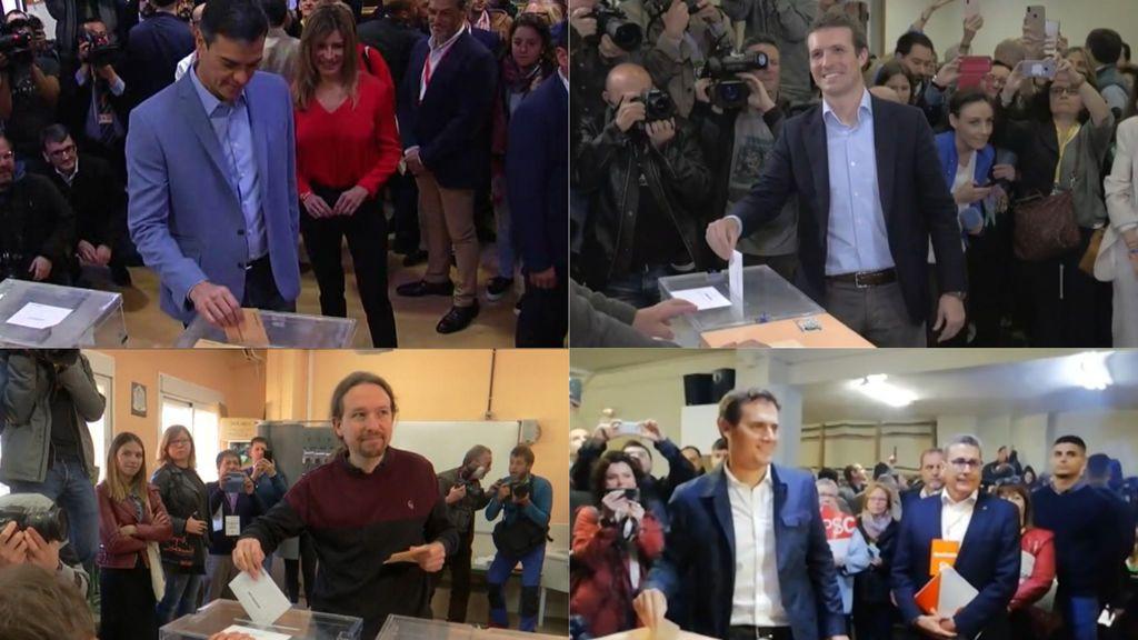 Los políticos votan en un 28-A decisivo para España