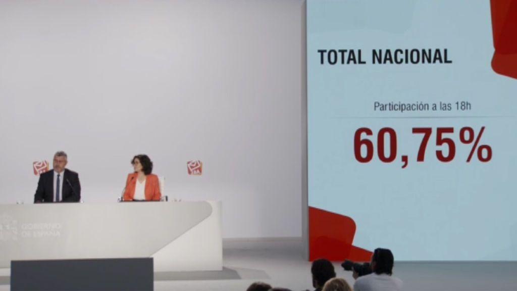 La participación en el 28-A se dispara a las 18 horas: 9,5 puntos más respecto a 2016