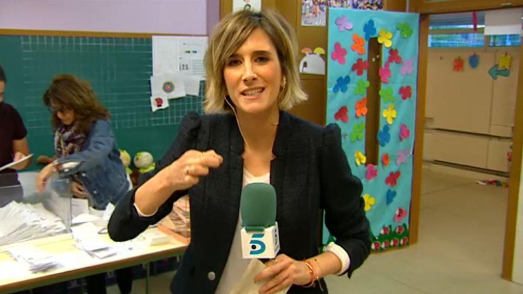 Así se vive el recuento en una mesa electoral de un colegio de Madrid