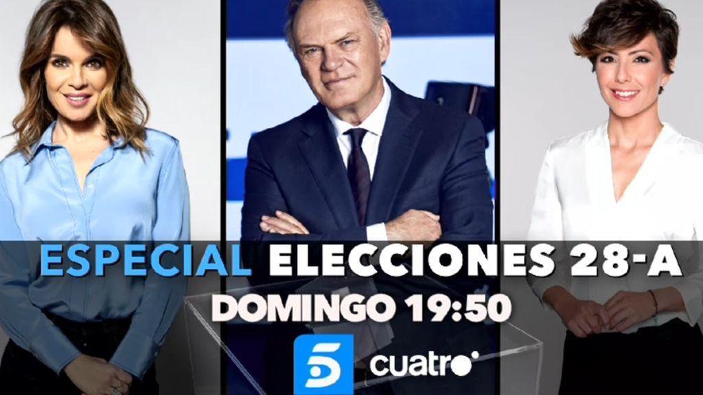 Sigue la noche electoral en el especial informativo que comienza a las 19:50h