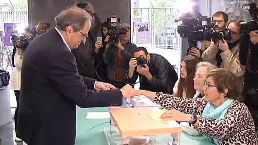 """Quim Torra anima a votar: """"Los catalanes, cuando hay urnas, votamos"""""""