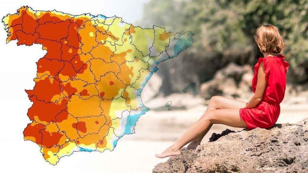 Calor anómalo la primera semana de mayo: más de la mitad del país con hasta 10ºC más de lo normal