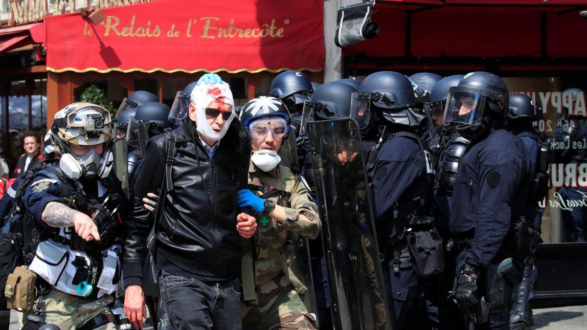 1 de Mayo en París con cargas policiales y más de 160 detenidos