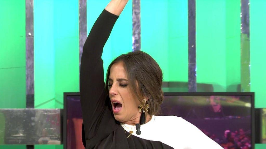 La performance más 'orgásmica' de Anabel Pantoja imitando a Isabel Pantoja