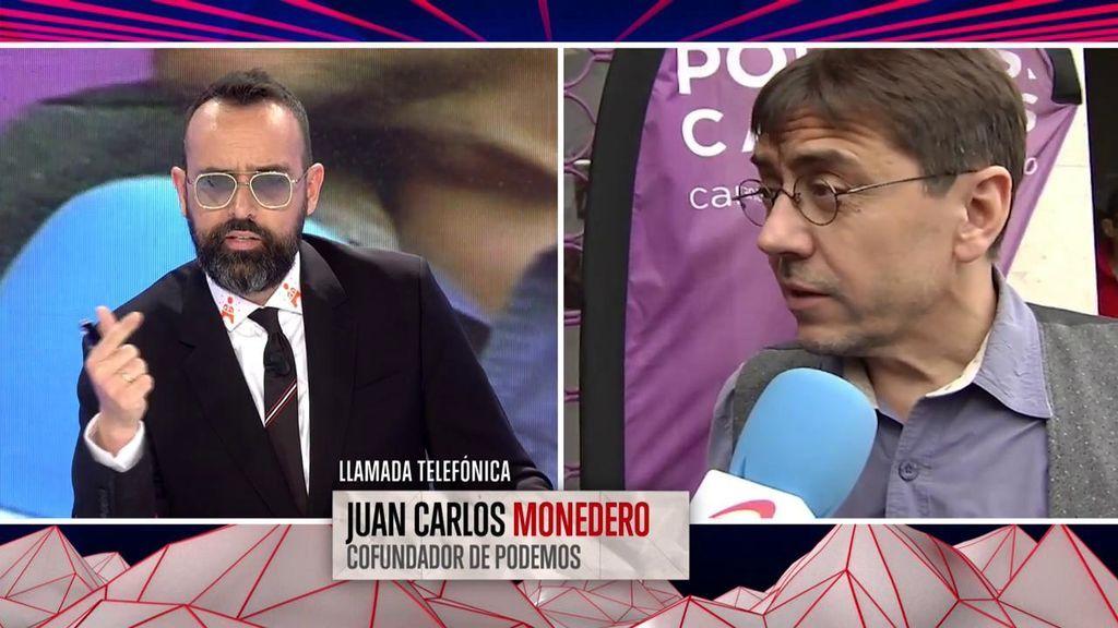 """La llamada en directo de Risto a Monedero no soluciona su desencuentro: """"No voy a permitir que nadie nos tache de mentirosos"""""""
