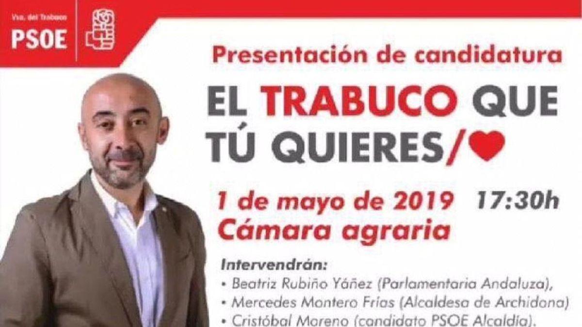 """El eslogan viral del PSOE que ha incendiado las redes: """"El Trabuco que tú quieres"""""""