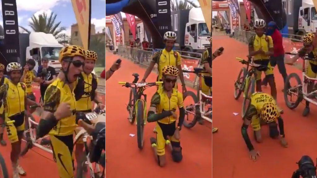Alex Roca, ciclista con parálisis cerebral, supera la Titan Desert  y ya piensa en disputar el Rally Dakar