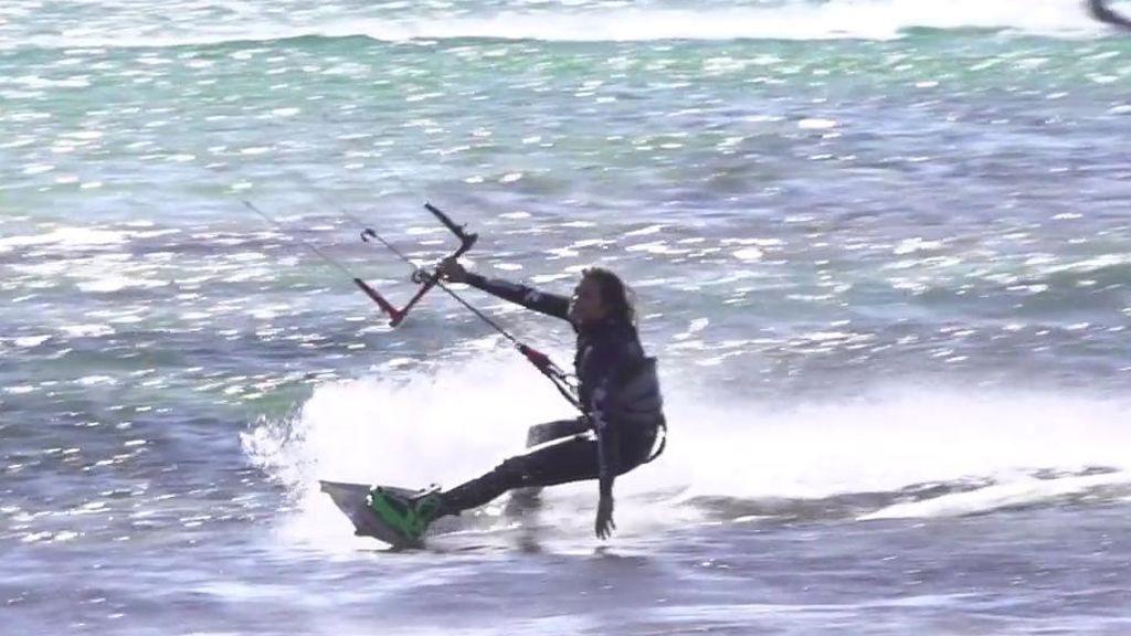 El momento más doloroso de Gisela Pulido sobre una tabla de kitesurf