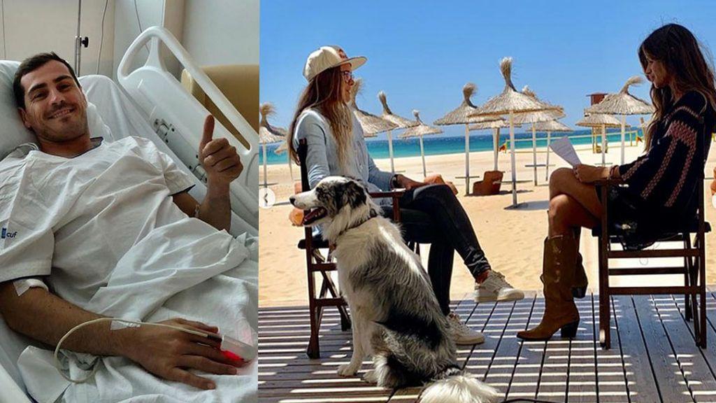 """""""Voy a tener tiempo de verla"""", la broma de Casillas desde el Hospital al ver la entrevista de Sara Carbonero a Gisela Pulido"""