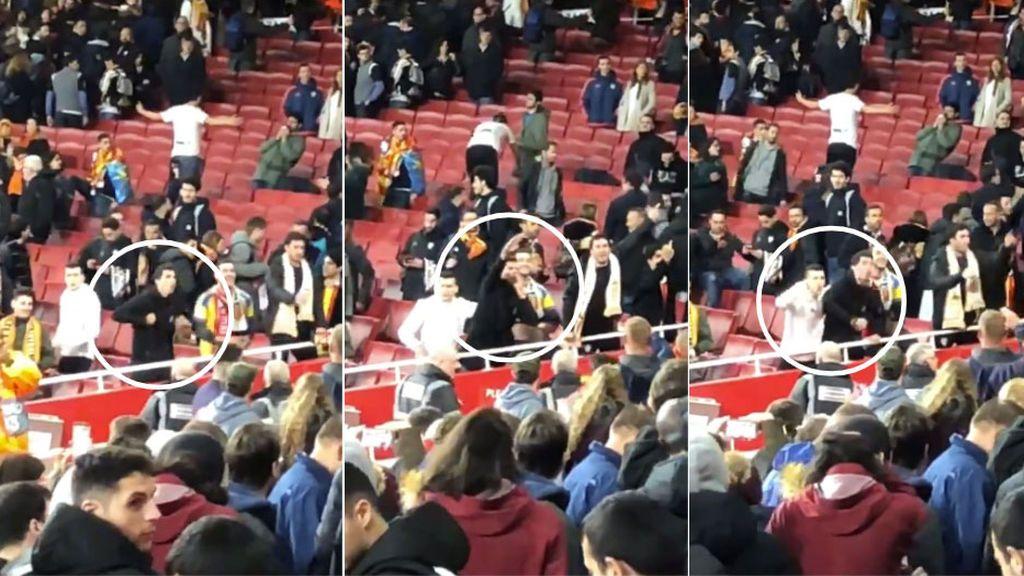 Denuncian la actitud de varios aficionados del Valencia que realizaron gestos nazis y racistas a los fans del Arsenal