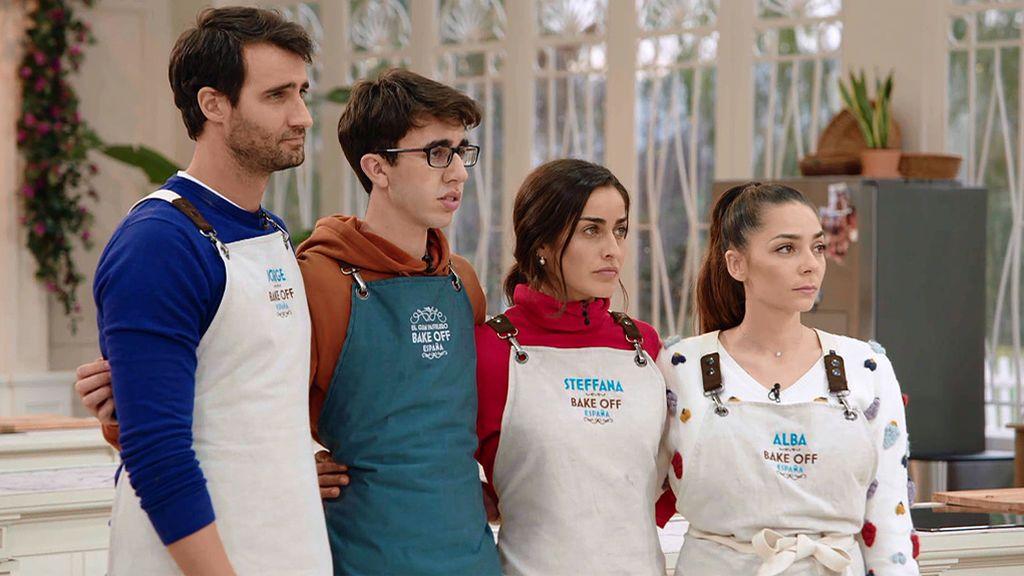 La loca visita de las Salazar a 'Bake Off' termina con Jorge, Steffana, David y Alba como finalistas