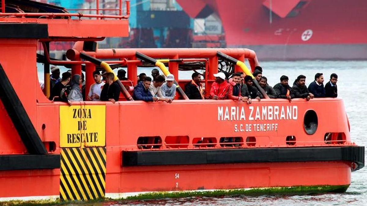 Rescatan a 359 personas, entre ellas 13 niños, que se encontraban en nueve pateras