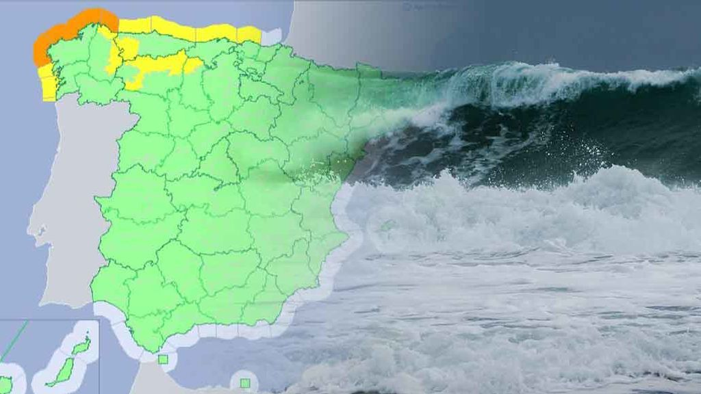 Avisos naranjas en el norte: un frente atlántico dejará olas de hasta 6 metros a partir del martes