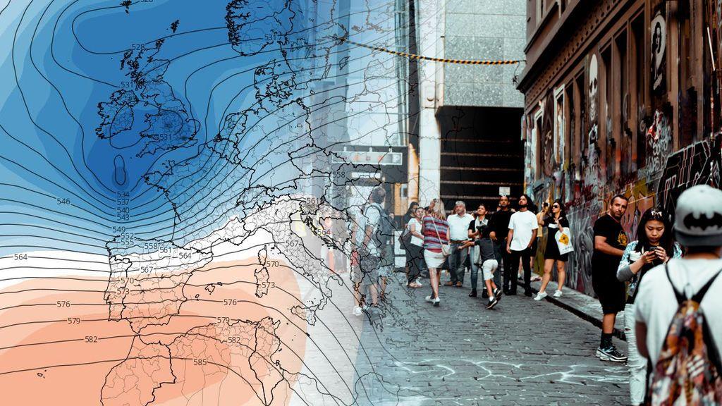 Batalla entre aire frío y cálido: 30ºC en el sur y frentes atlánticos por el norte