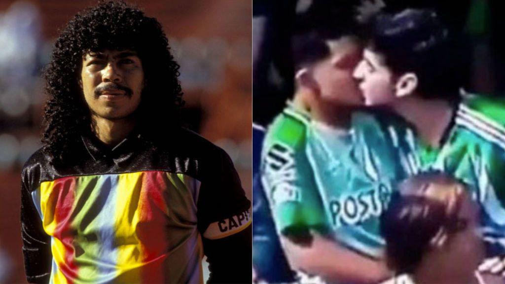 """Rene Higuita defiende a una pareja homosexual que es atacada por besarse durante un partido de fútbol: """"¿Cuál es el problema?"""""""