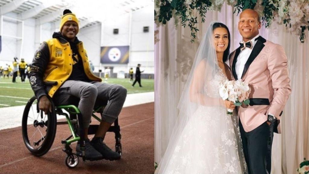 Un jugador de la NFL baila en su boda después de superar una lesión en la columna que casi le deja en silla de ruedas