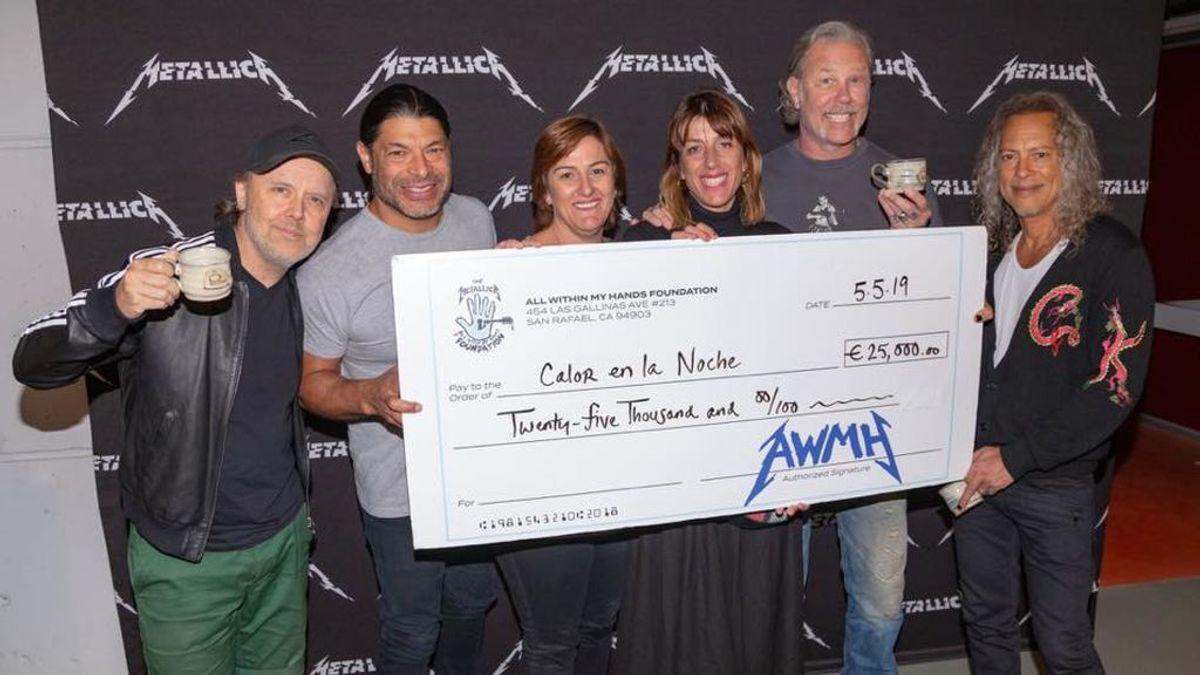 Metallica dona un euro de cada entrada de sus conciertos en Madrid y Barcelona a organizaciones benéficas