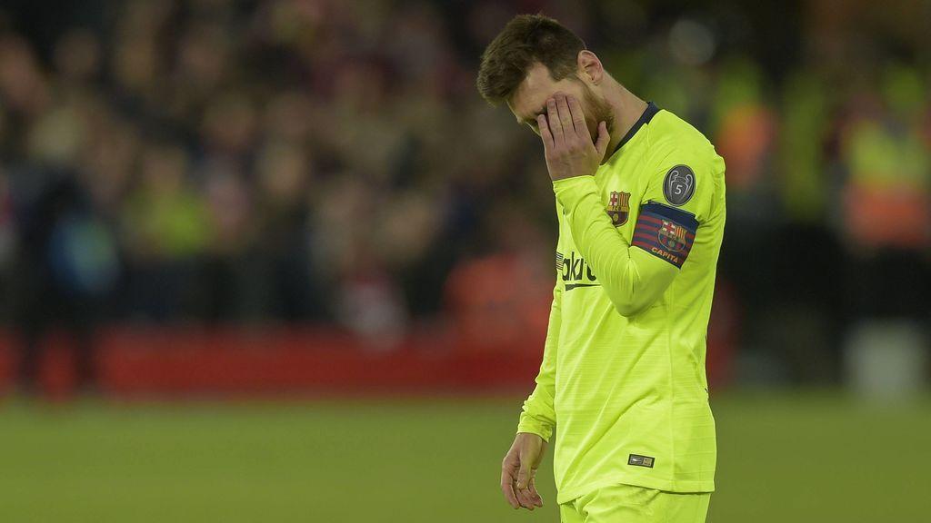 El dolor de Messi tras caer en Anfield: rompió a llorar en el vestuario del Barça