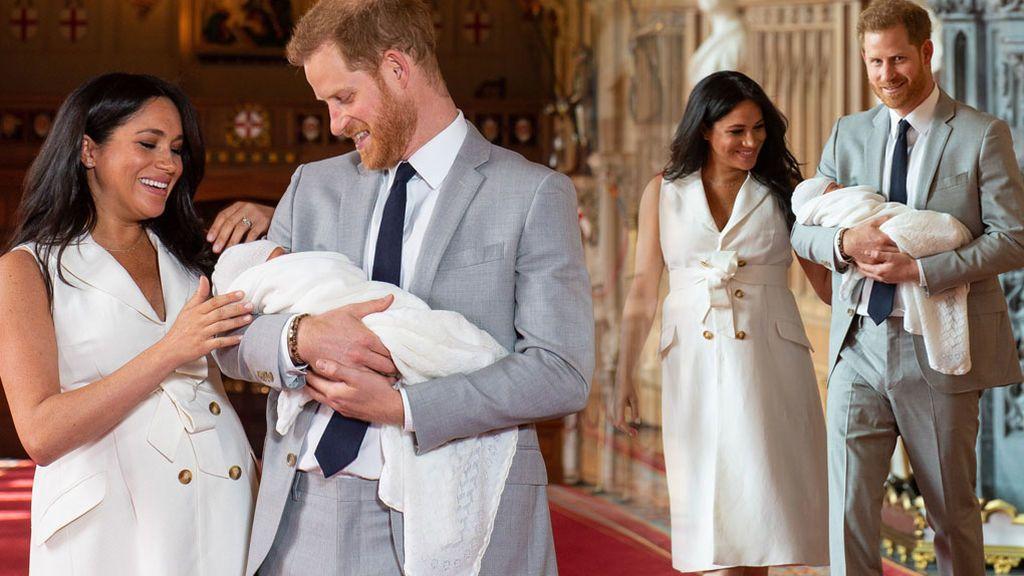 Meghan y Harry: su posado con su hijo, en vídeo