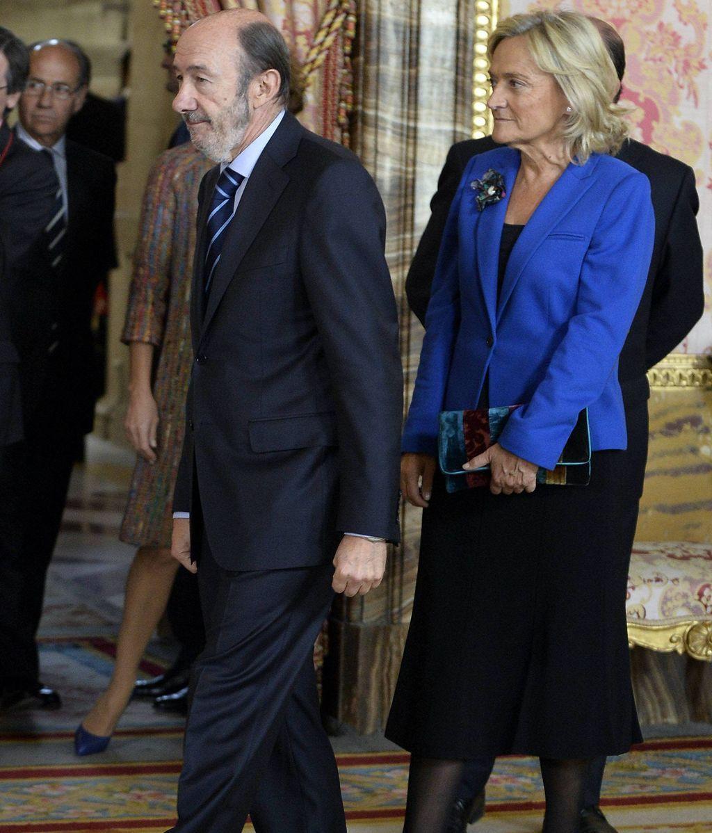 Rubalcaba y su mujer Pilar Goya